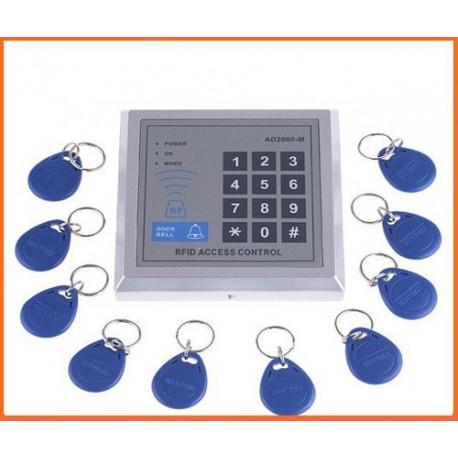 Lecteur RFID digicode installation intérieure